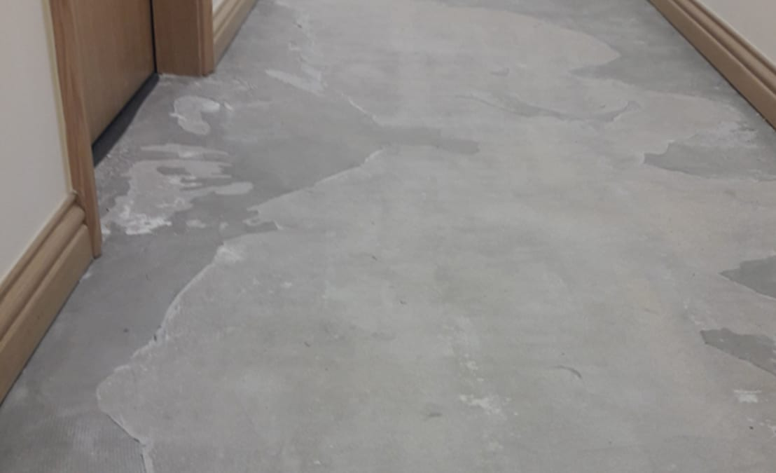 An incorrectly prepped floor